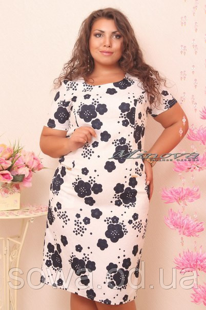 Стильное Платье батал Николь фото