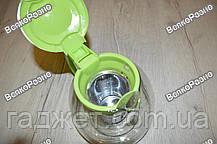 Чайник-Заварник стеклянный 1200 мл. Заварник., фото 2
