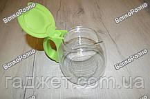 Чайник-Заварник стеклянный 1200 мл. Заварник., фото 3