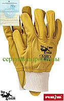 Перчатка кожаные рабочие REIS (RAW-POL) Польша RLCSSUN Y