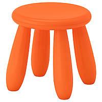 """IKEA """"МАММУТ"""" Табурет детский, оранжевый"""