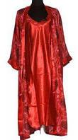 Сорочка на бретельках и халат 5377