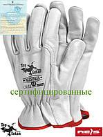 Перчатки кожаные рабочие REIS (RAW-POL) Польша RLCSWLUX W