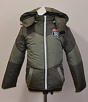 Детская куртка для мальчика на синтепоне и флисе