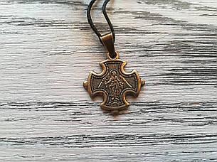 Ангел Хранитель Именной Нательный Крест Православный Женский Медненный размер 30*22 мм, фото 2