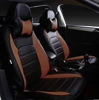 Модельные чехлы на сидения из экокожи ARIGON X (коричневые)