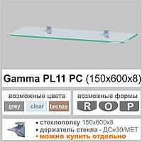 Стеклянная полка Сommus PL11 PC