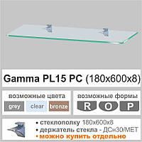 Стеклянная полка Сommus PL15 PC