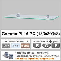 Стеклянная полка Commus  PL16 PC