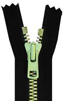 Молния YKK Metaluxe® 70 cм * черная Light Green
