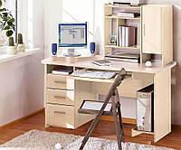 Стол компьютерный с надставкой  СК-3748 755х1500х660мм фасад МДФ   Комфорт