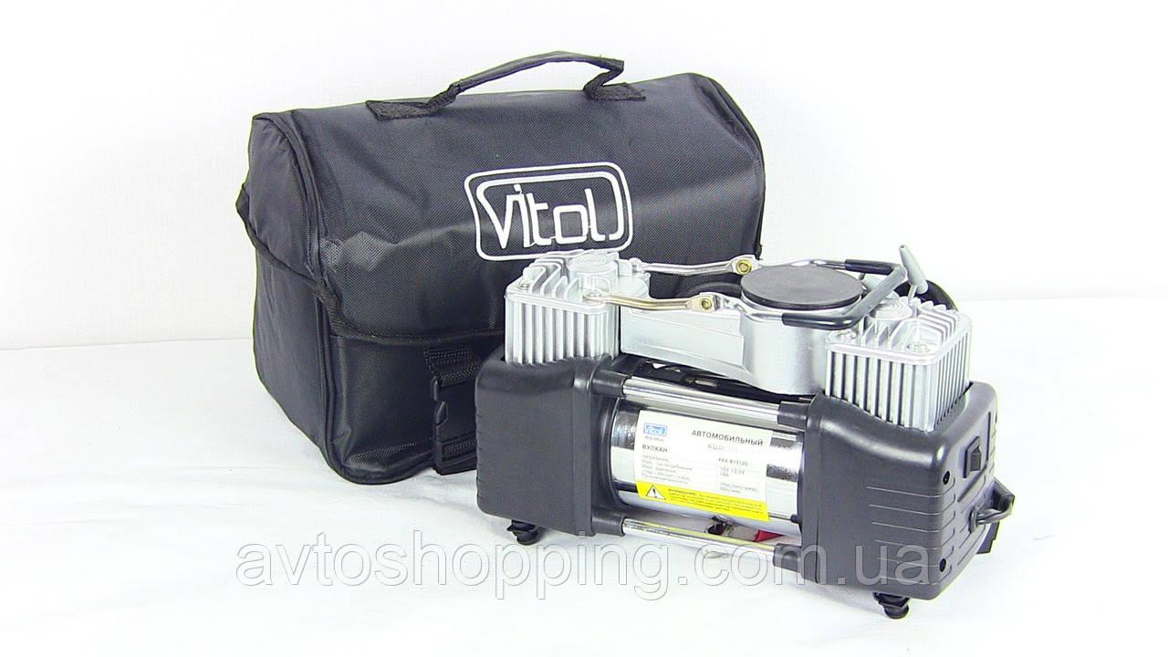 Автомобильный компрессор Vitol Вулкан КА-В12120, 60 л/мин, 10 Атм, 23 А