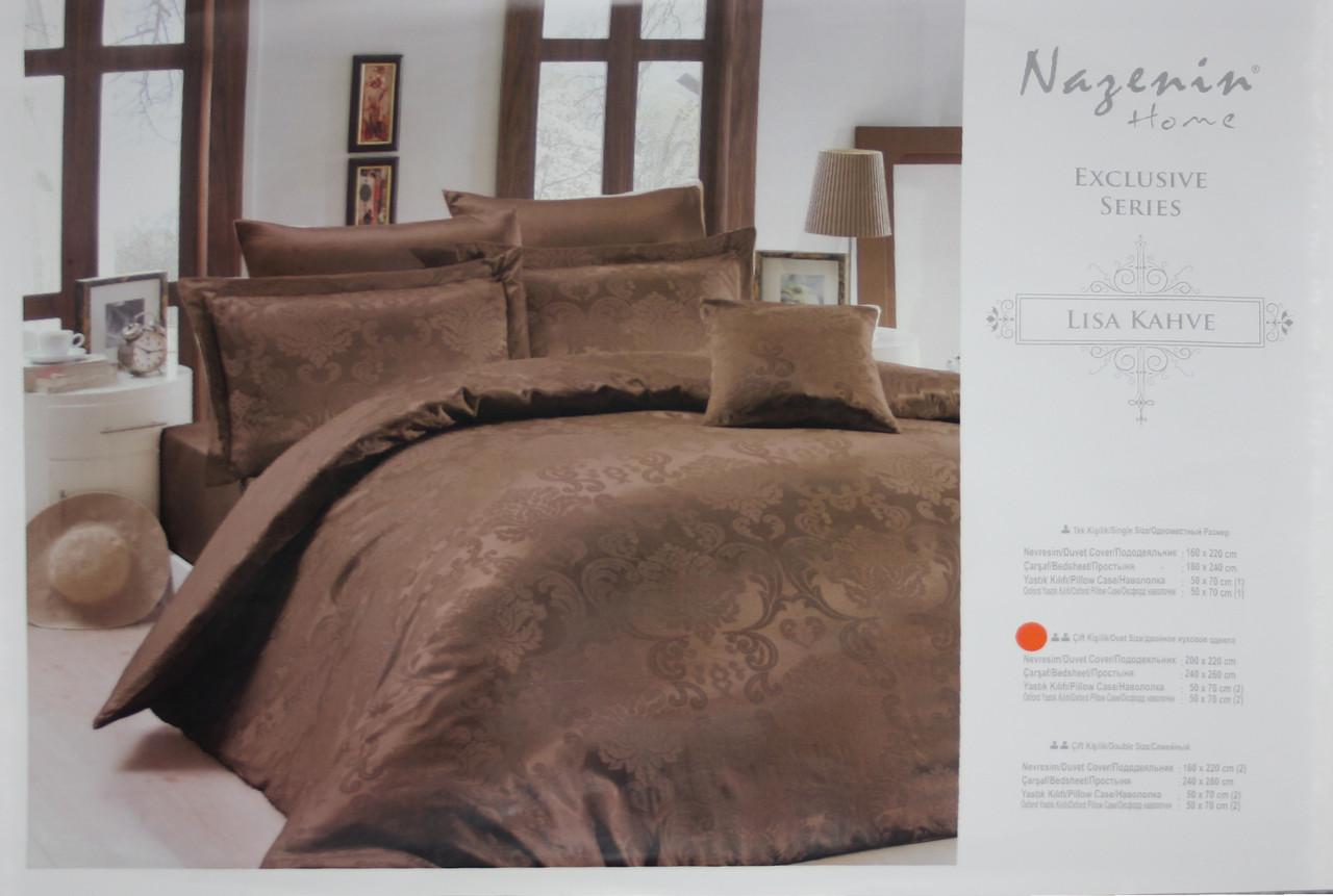 Lisa Kahve постельное белье Евро размера Nazenin home