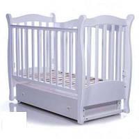 Детская кроватка Верес Соня ЛД15 маятник з шухлядою, белый