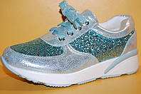 Подростковые кроссовки бирюза TM Yalike код 108-7 размер 38