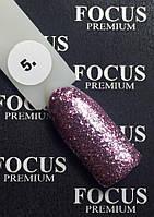 Гель-лак FOCUS Titan  №005 (сиреневый с блесточками, глиттер), 8 мл