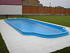 """Стационарный стекловолоконный усиленный бассейн """"Одесса"""" 8,0х3,2 глубиной 1,5м., фото 2"""