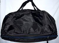 Спортивная дорожная черная сумка Трансформер с расширением снизу 56*30 см