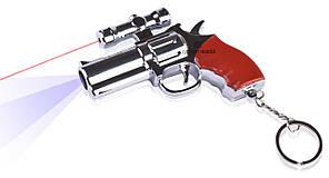 Фонарь лазер брелок 209 револьвер