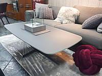 Современный стеклянный журнальный стол BELFORT фабрика Nicolas, цвет графит, матовое стекло