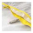 Поддерживающая подушка и чехол IKEA KLÄMMIG серый желтый 203.730.89, фото 3