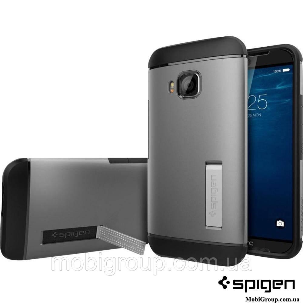 Чехол Spigen HTC One M9 Slim Armor, Gunmetal