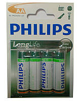 Батарейки PHILIPS R-6 (пальчик) блистер (48шт./уп., 864шт./ящ)