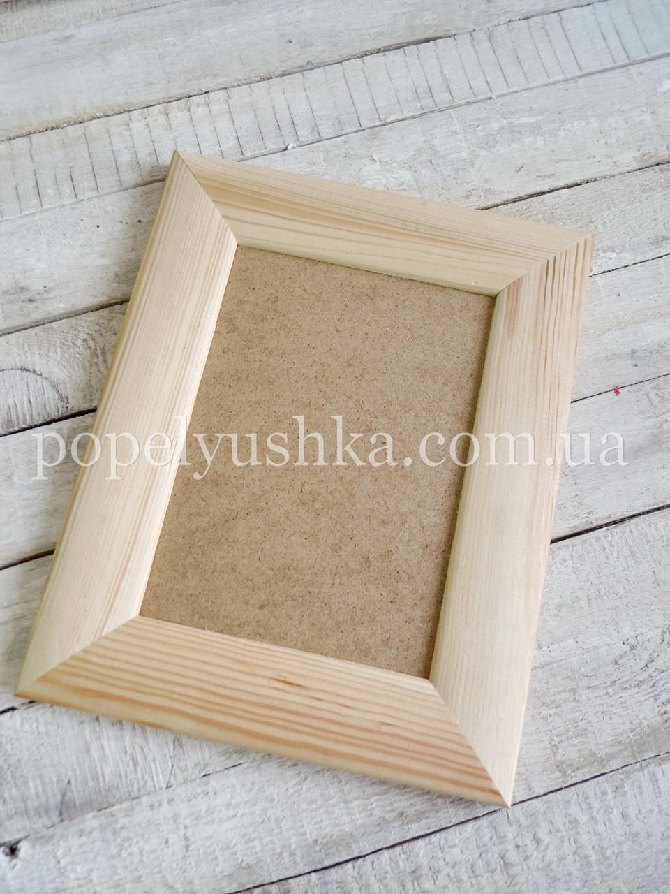 Рамка деревянная с ДВП 13 * 18 см (планка 40 * 17)