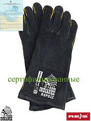 Перчатки кожаные длинные (краги) REIS (RAW-POL) Польша RSPBIZINDIANEX B