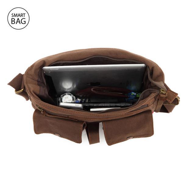 Мессенджер через плечо Augur | коричневый