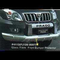 Toyota Land Cruiser 120 Prado 2003-2009 защита переднего бампера пластик. FJ120-A007