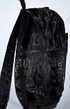 Мужской черный универсальный рюкзак Найк 31*40 см, фото 2