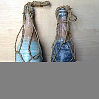 Бутылка декоративная из дерева 30 см