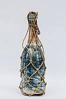 Бутылка декоративная 30 см, дерево