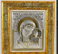 Икона Казанская в деревянной рамке 16*14 см