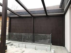Стена навеса, лицевая часть.