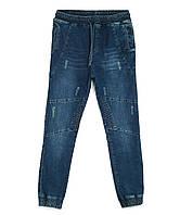 Мужские джинсы на резинке синие 0435-Jogr-06 (29-36, 7 ед.) Рэд Мун