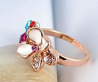 Радужное кольцо Swarovski с эмалью