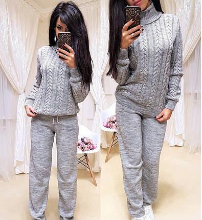 Теплый женский вязаный костюм с принтом коса - Цена 790 грн. Купить ... 9b6002ba0df
