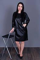 Черное женское платье с карманами