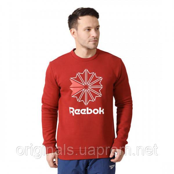 Свитшот Рибок Классик для мужчин с принтом красного цвета DM7192