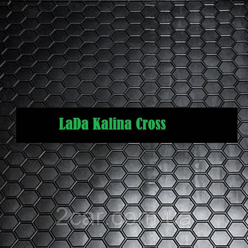 Полиуретановый коврик в багажник Lada Kalina Cross (Avto-Gumm)