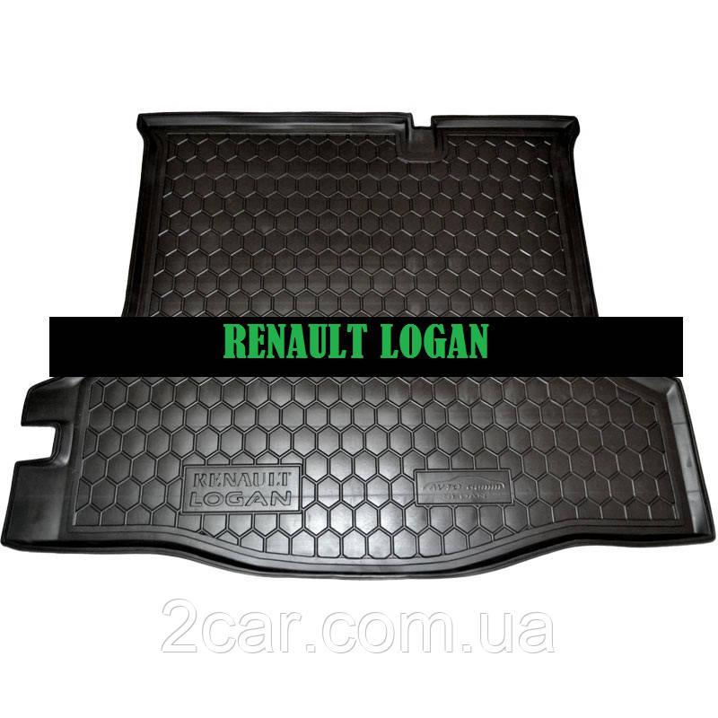 Полиуретановый коврик в багажник Renault Logan (2013>) (седан)