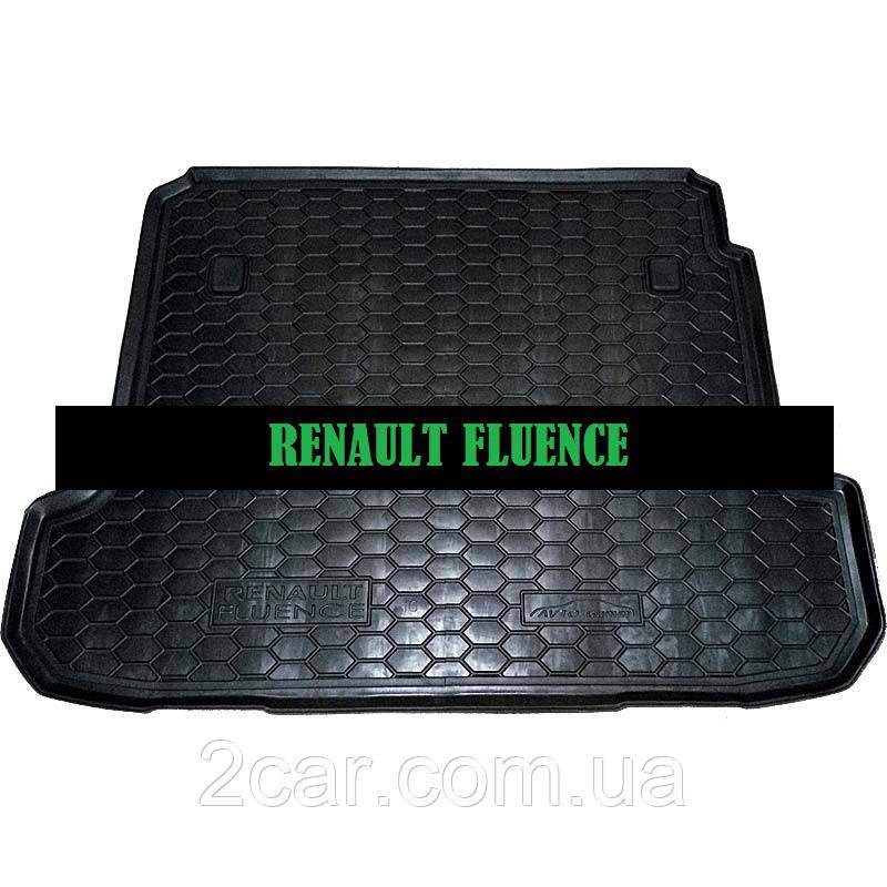 Полиуретановый коврик в багажник Renault Fluence (Avto-Gumm)