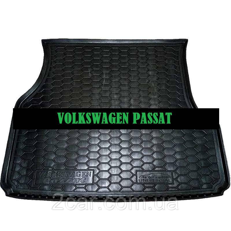 Полиуретановый коврик в багажник Volkswagen Passat B 3 (универсал) (Av