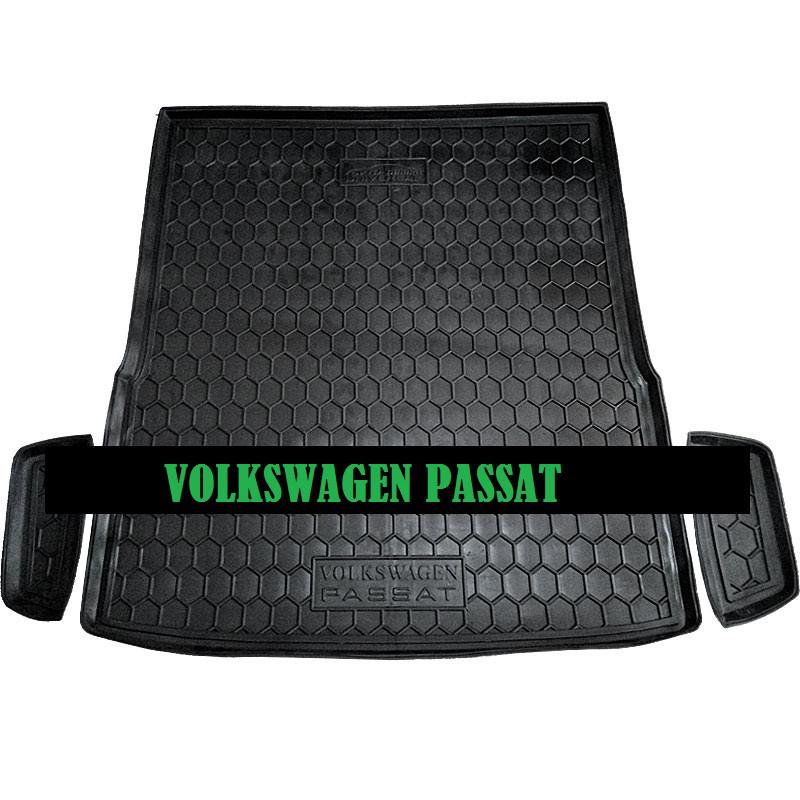 Полиуретановый коврик в багажник Volkswagen Passat B 7 (универсал) (Av