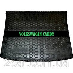 Коврик в багажник VW Caddy (2004>) корот. База (Avto-Gumm)