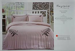 """""""Mihriman Pudra"""" постельное белье с вышивкой Евро размера Nazenin home"""