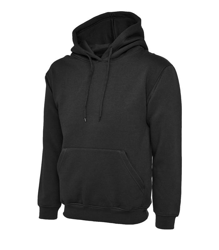 13b5f6a6 Мужская толстовка с капюшоном черная 502-36 - Интернет-магазин модной  одежды