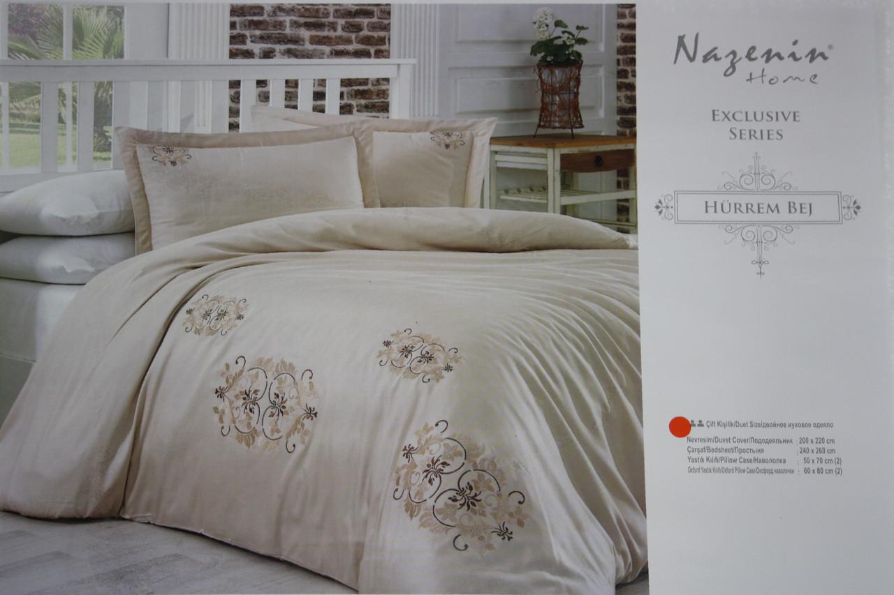 Hurrem Bej постельное белье с вышивкой Евро размера Nazenin home